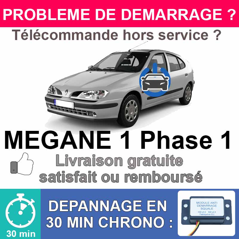 Module de désactivation d'anti démarrage pour renault megane 1 phase 1.