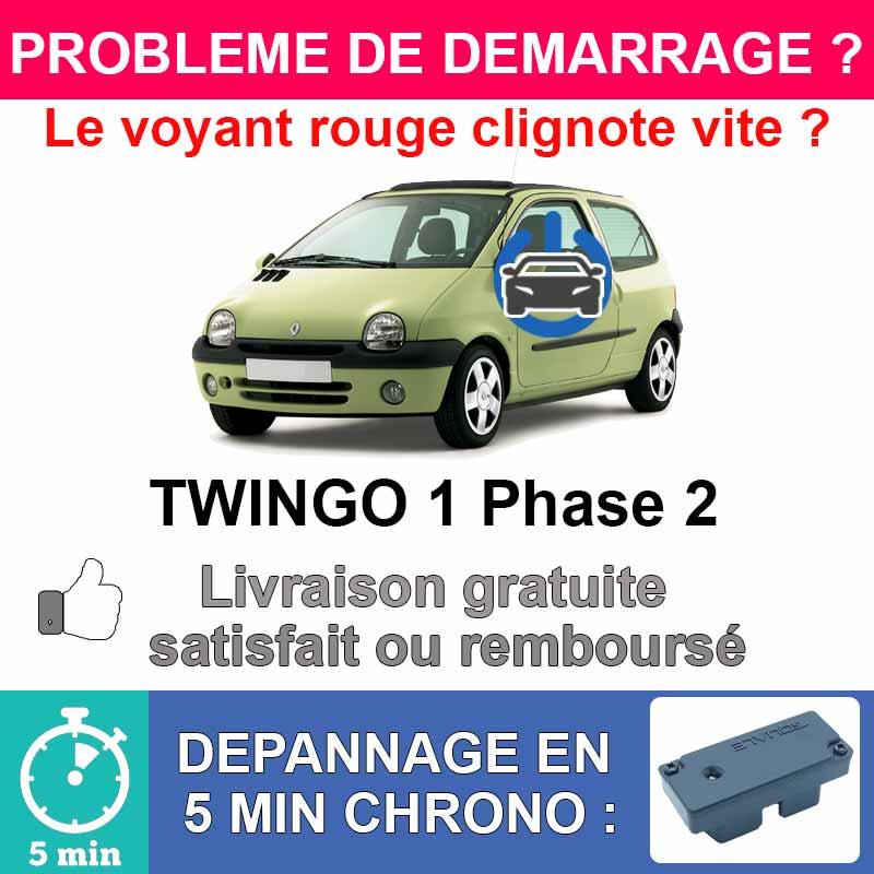 Clé de désactivation d'anti démarrage pour renault twingo 1 phase 2