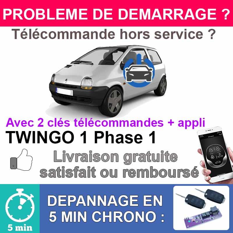 Kit de démarrage avec clé télécommande twingostart réparation anti demarrage Twingo 1